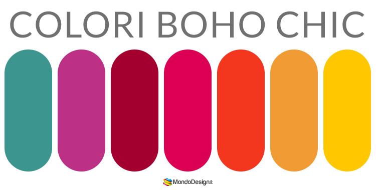 Colori in stile boho chic