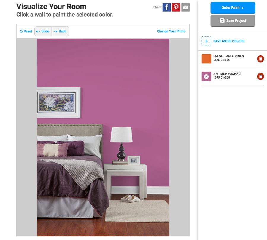 Simulatore di colore per pareti online Glidden
