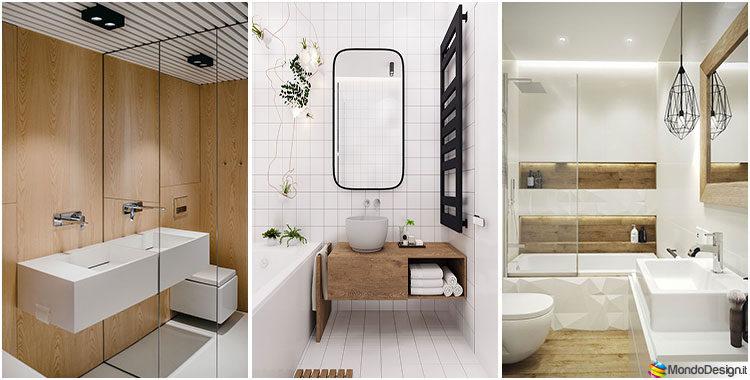 Bagno bianco e legno 20 idee di arredo dal design moderno for Bagni di design 2016