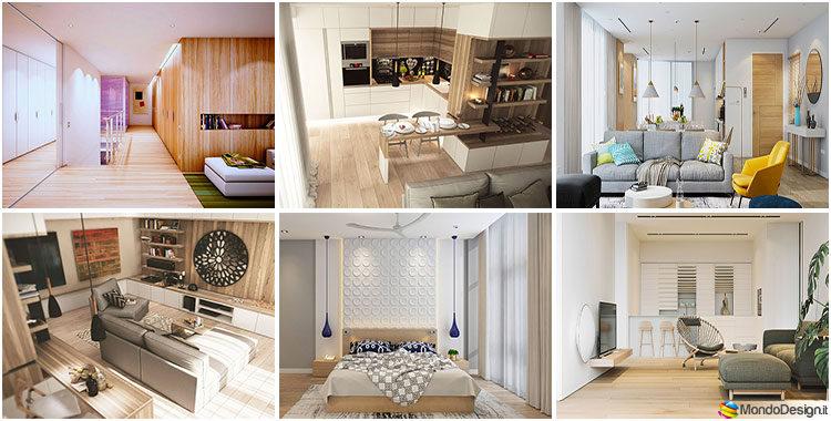 Arredamento bianco e legno idee con foto di interni in