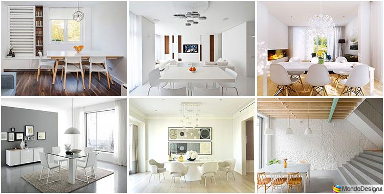 Mobili Della Sala Da Pranzo : Sala da pranzo bianca idee di arredamento originali