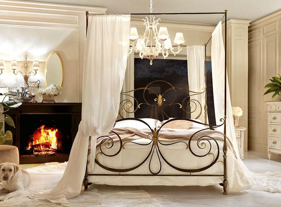 Modello di letto matrimoniale con baldacchino marca Bova 01