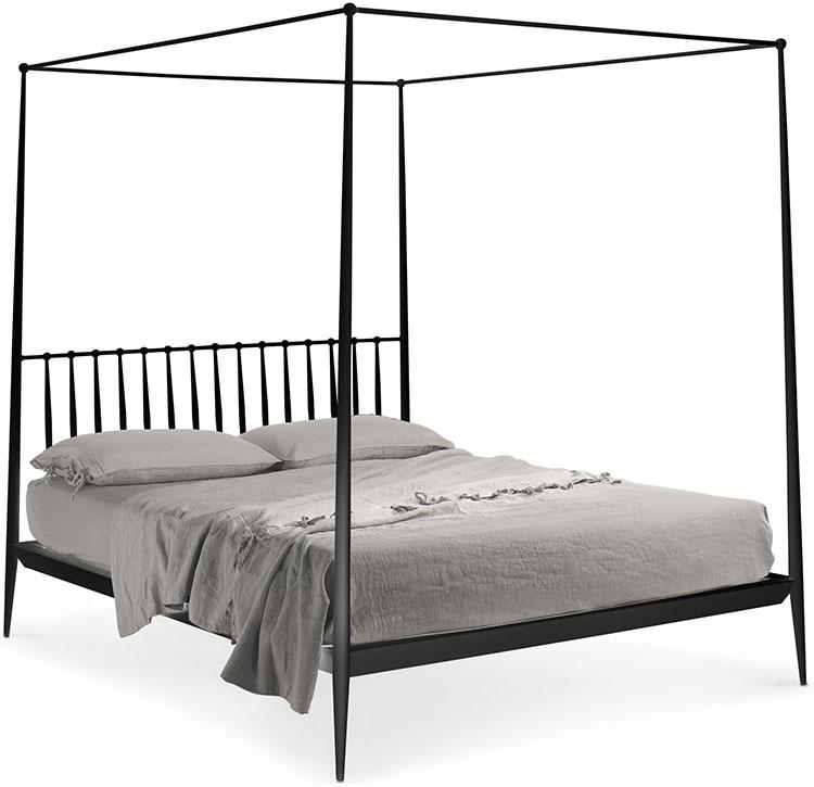 Modello di letto matrimoniale con baldacchino marca Cantori 01