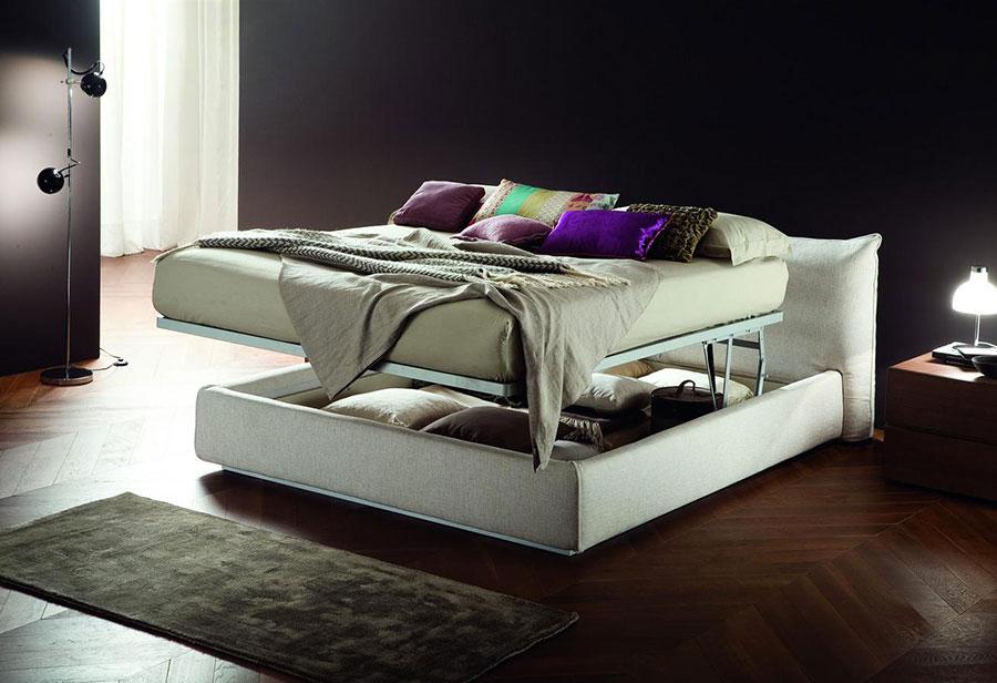 Modello di letto matrimoniale con contenitore marca Vittoria 01