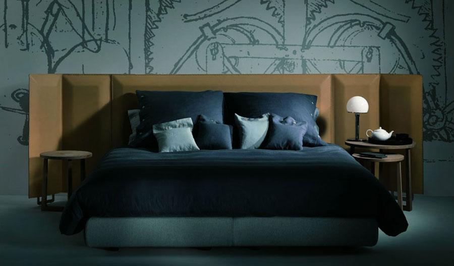Modello di letto matrimoniale moderno marca Flexform 01