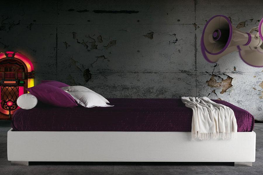 Modello di letto matrimoniale moderno marca Milano Bedding 01