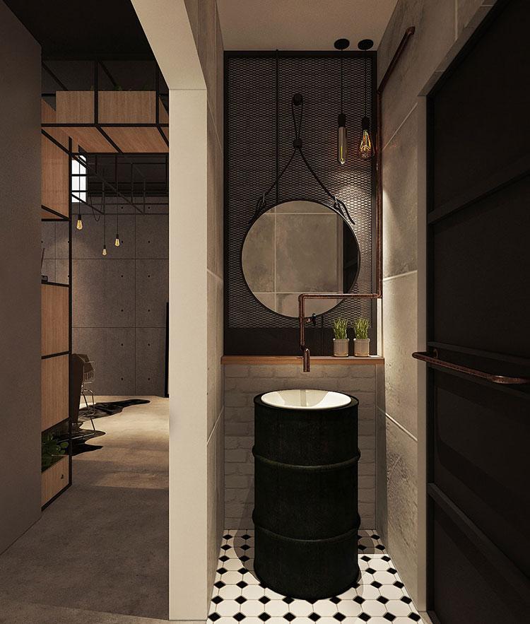 Idee per arredare il bagno in un loft moderno n.02