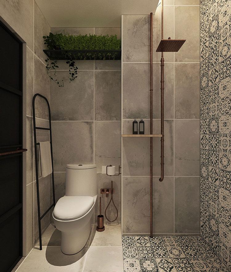 Idee per arredare il bagno in un loft moderno n.03