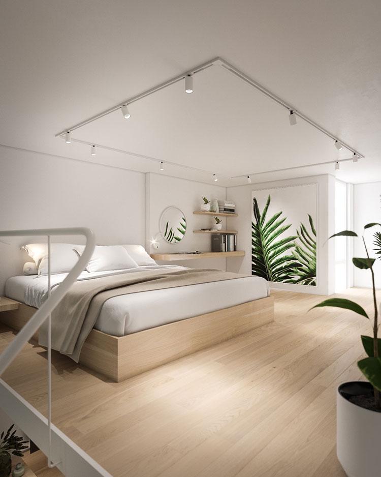 Idee per arredare la camera da letto in un loft moderno n.02