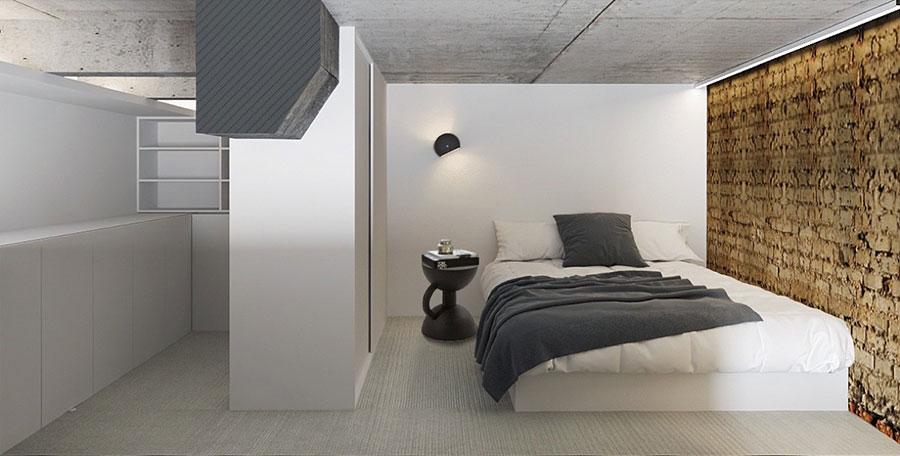 Idee per arredare la camera da letto in un loft moderno n.03