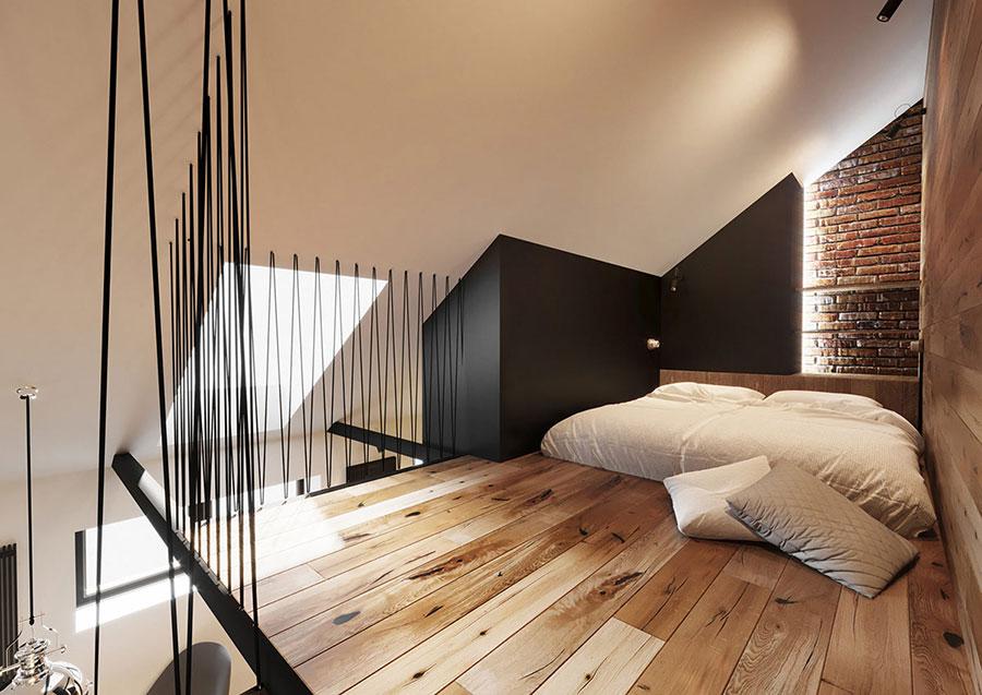 Idee per arredare la camera da letto in un loft moderno n.04