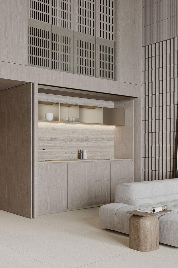 Idee per arredare la cucina in un loft moderno n.01