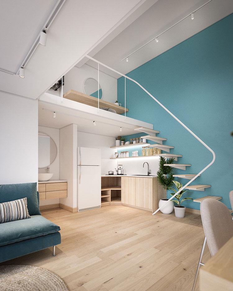 Idee per arredare la cucina in un loft moderno n.02