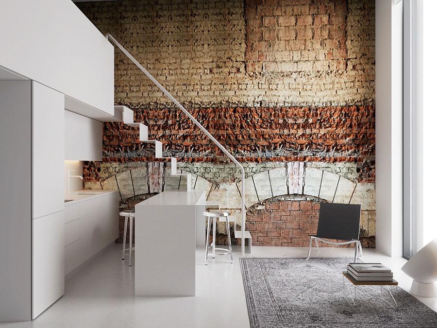 Idee per arredare la cucina in un loft moderno n.03