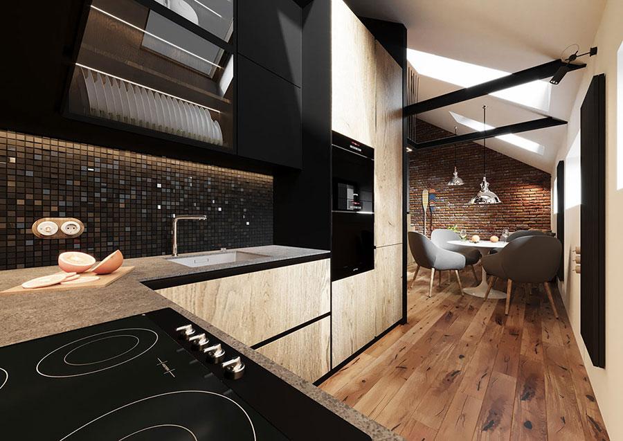 Idee per arredare la cucina in un loft moderno n.04