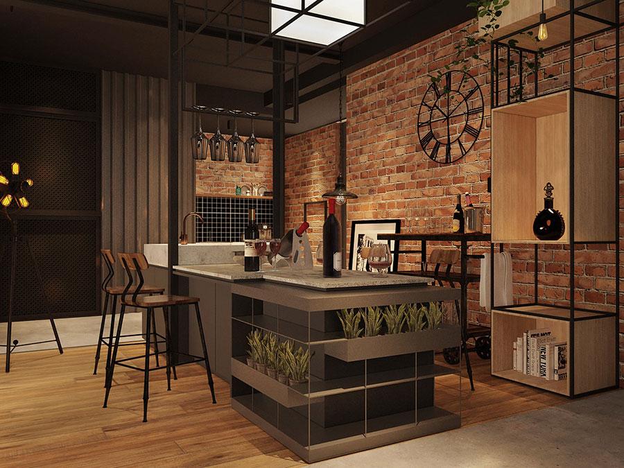 Idee per arredare la cucina in un loft moderno n.05