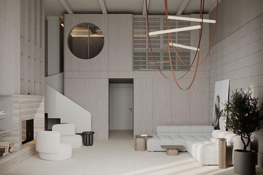 Idee per arredare il soggiorno in un loft moderno n.01