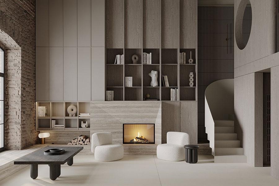 Idee per arredare il soggiorno in un loft moderno n.02