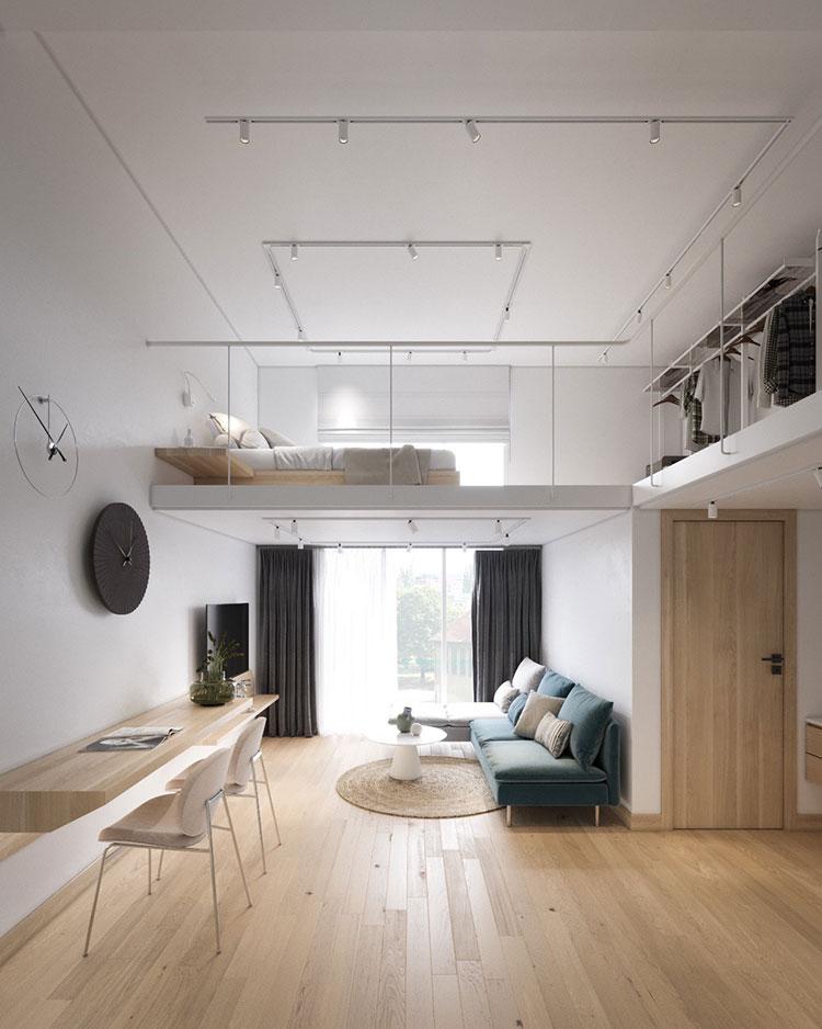Idee per arredare il soggiorno in un loft moderno n.03