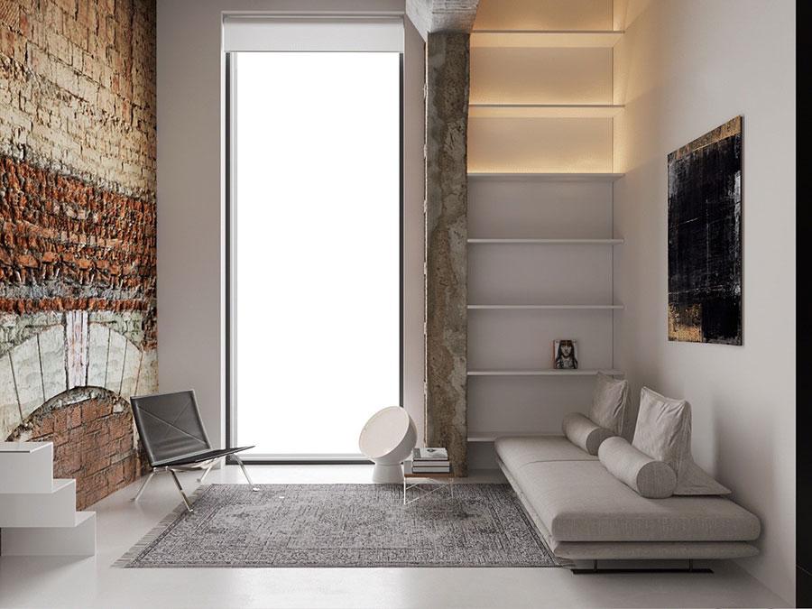 Idee per arredare il soggiorno in un loft moderno n.04