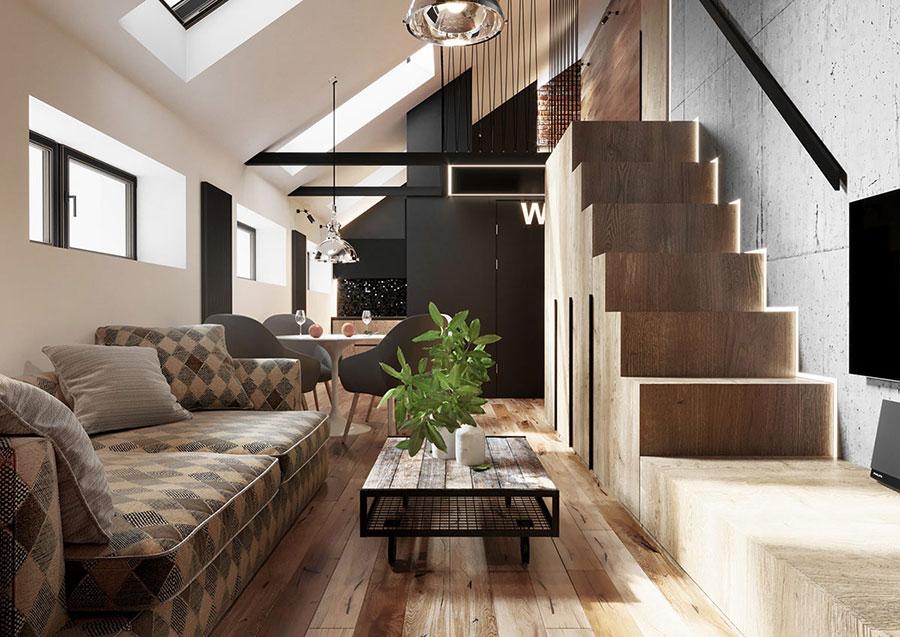 Idee per arredare il soggiorno in un loft moderno n.06