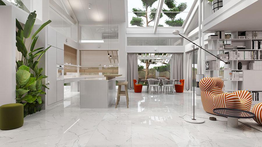 Idee di arredamento per loft in stile moderno n.01