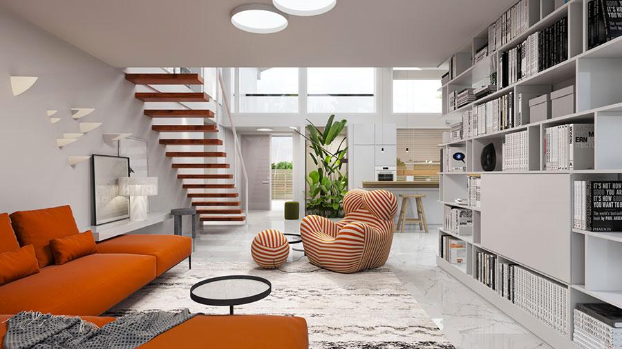 Idee di arredamento per loft in stile moderno n.04