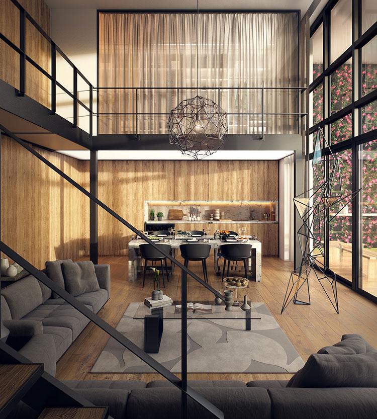 Idee di arredamento per loft in stile moderno n.05