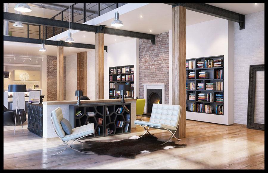 Idee di arredamento per loft in stile moderno n.08