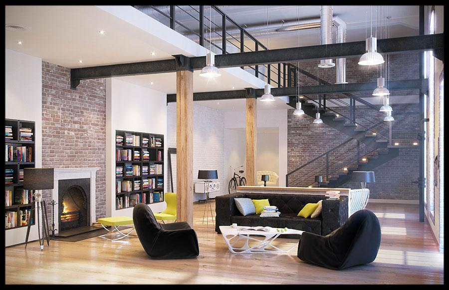 Idee di arredamento per loft in stile moderno n.09