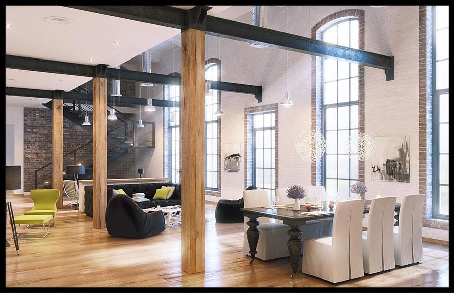 Idee di arredamento per loft in stile moderno n.10