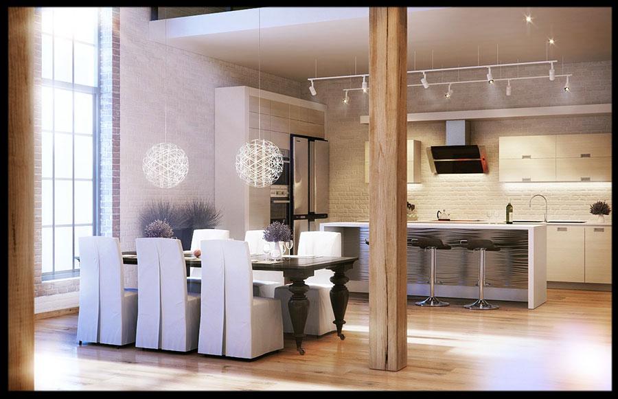 Idee di arredamento per loft in stile moderno n.11