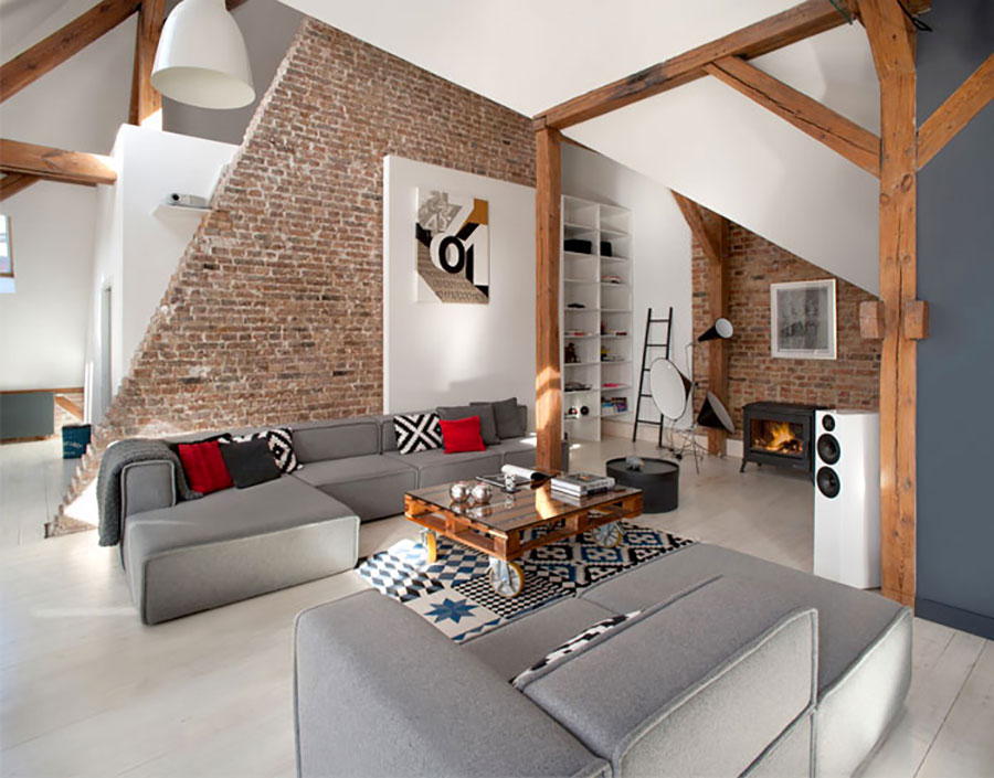 Idee di arredamento per loft in stile moderno n.13
