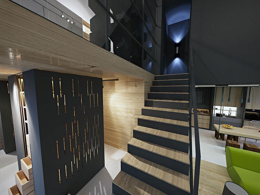 Idee di arredamento per loft in stile moderno n.18