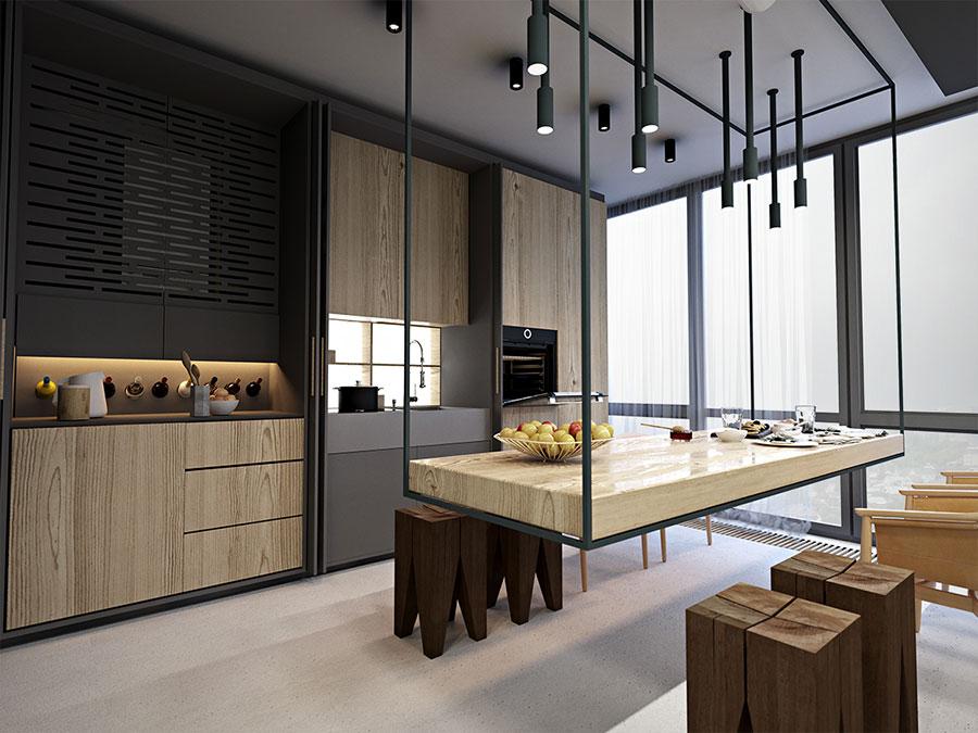 Idee di arredamento per loft in stile moderno n.19