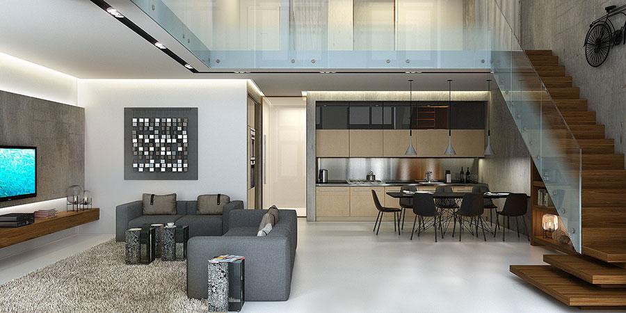 Idee di arredamento per loft in stile moderno n.21