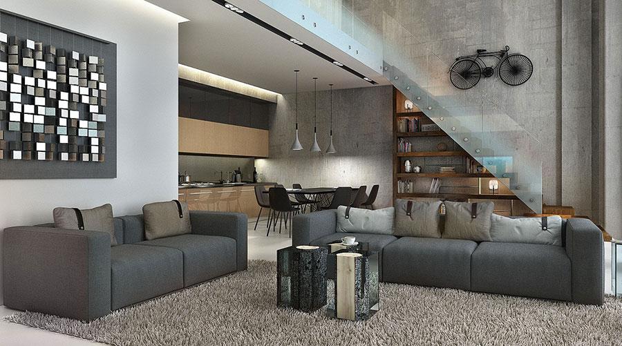 Idee di arredamento per loft in stile moderno n.22
