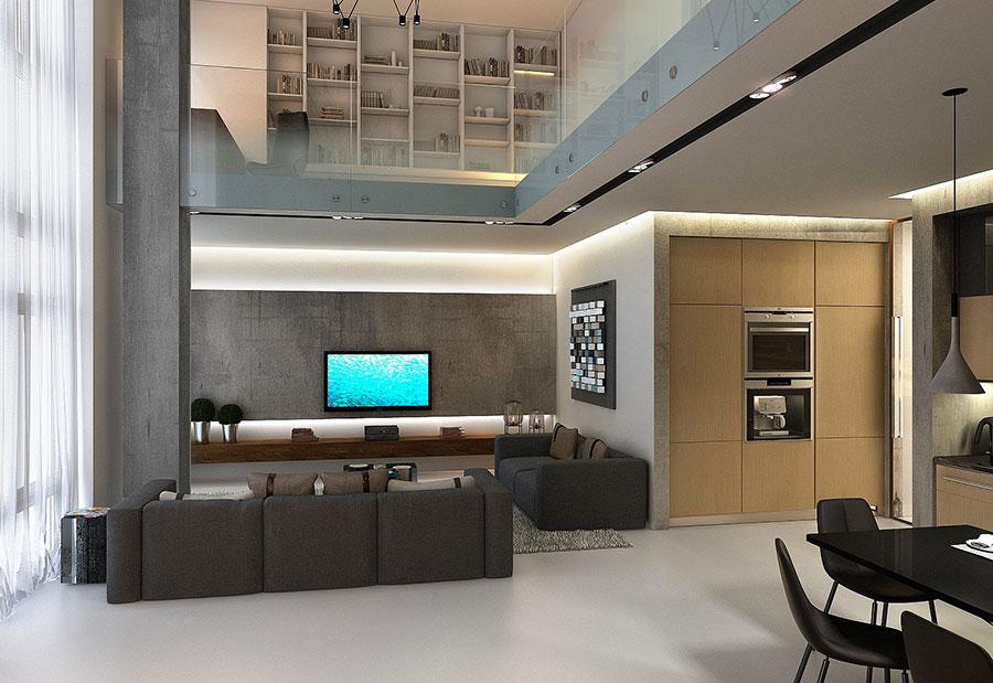 Idee di arredamento per loft in stile moderno n.23