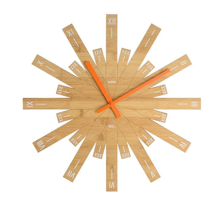 Modello di orologio da parete Raggiante di Alessi