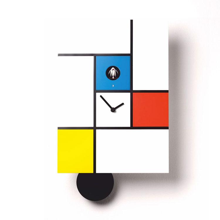 Modello di orologio da parete Mondrian di Diamantini & Domeniconi
