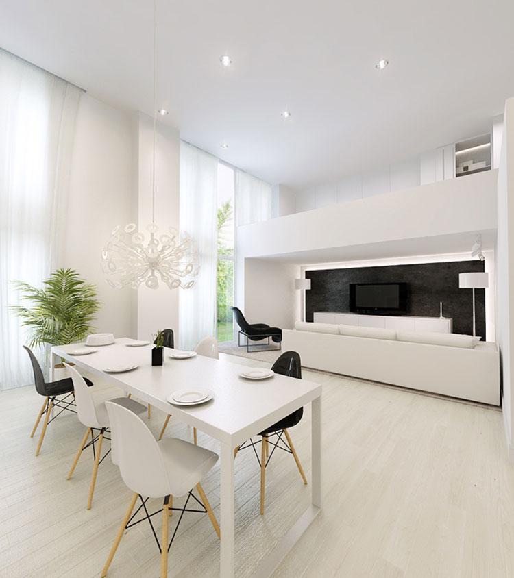 Sala da pranzo bianca 30 idee di arredamento originali - Arredamento sala pranzo ...