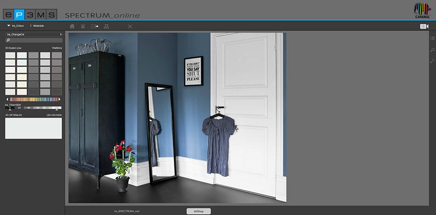 Simulatore di colore per pareti online Spectrum