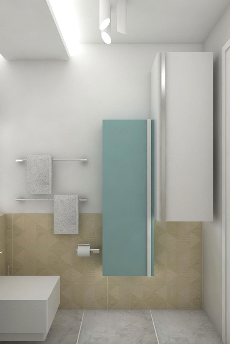 Progetto per bagno piccolo moderno n.02