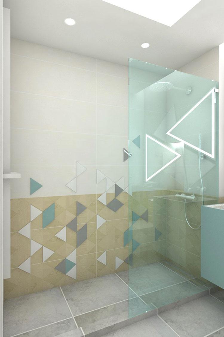 Progetto per bagno piccolo moderno n.03