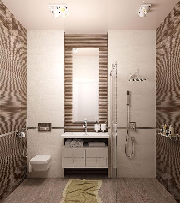 Progetto per bagno piccolo moderno n.04