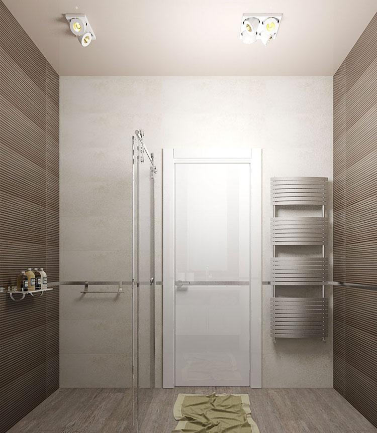Progetto per bagno piccolo moderno n.05