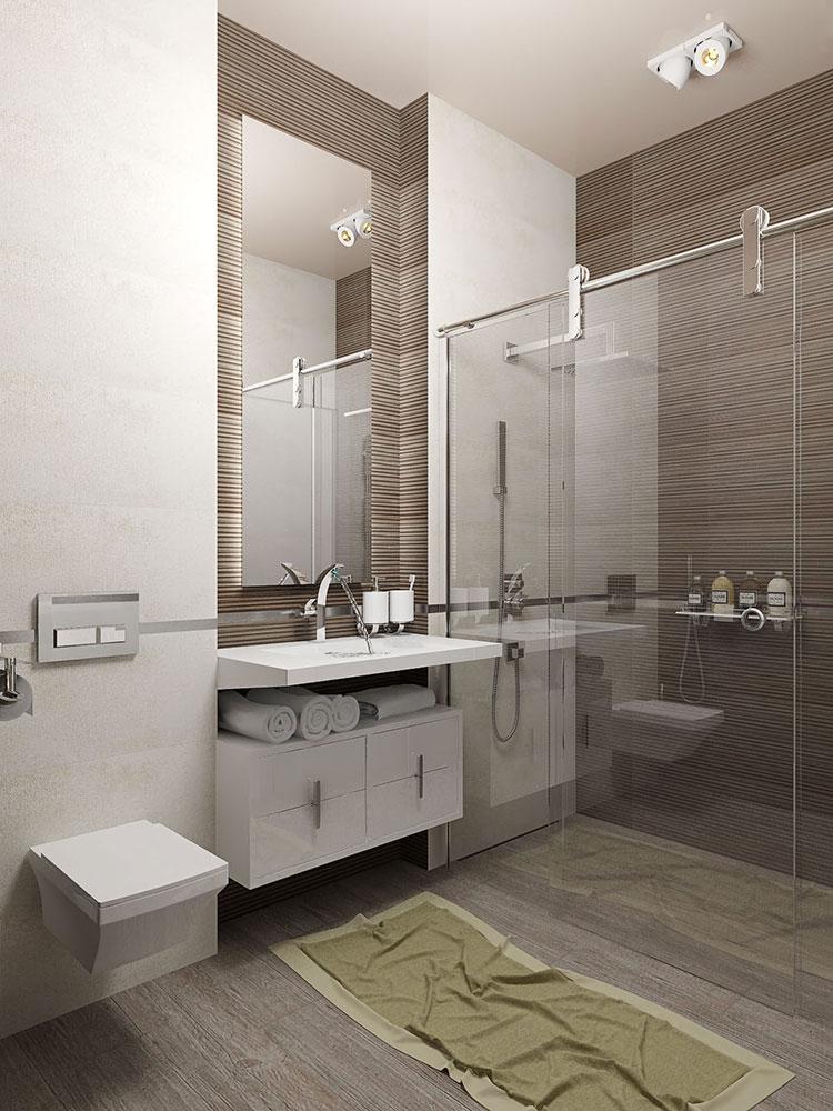 Progetto per bagno piccolo moderno n.06