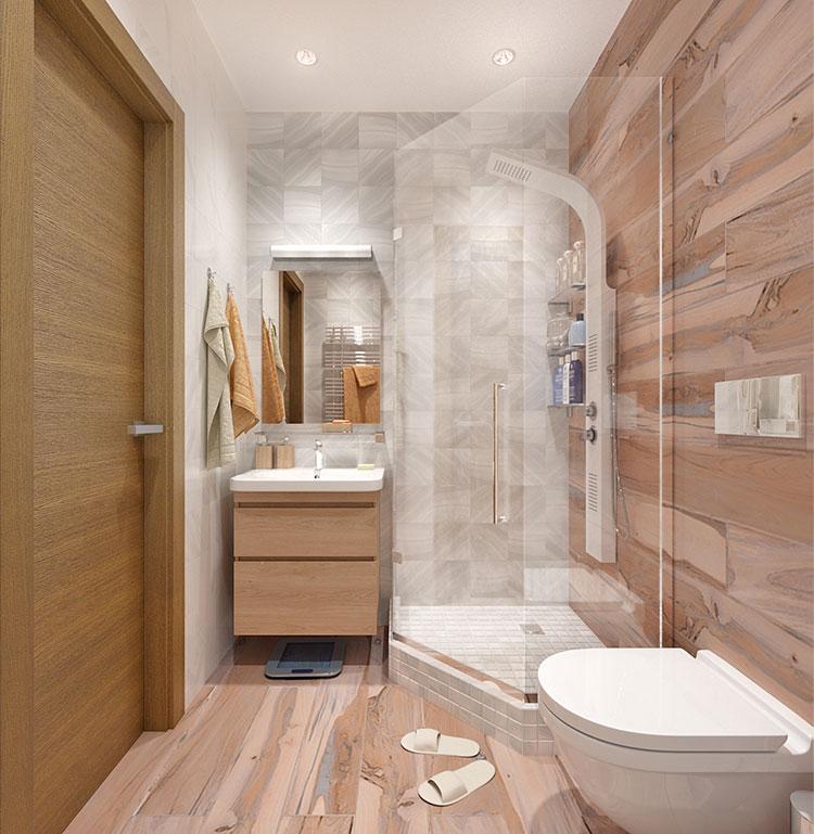 Progetto per bagno piccolo moderno n.07