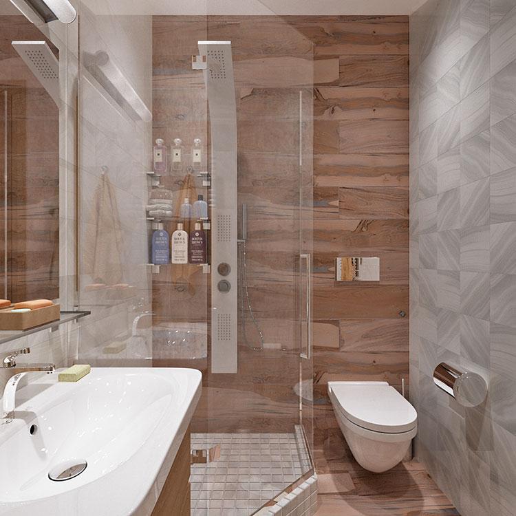 Progetto per bagno piccolo moderno n.08