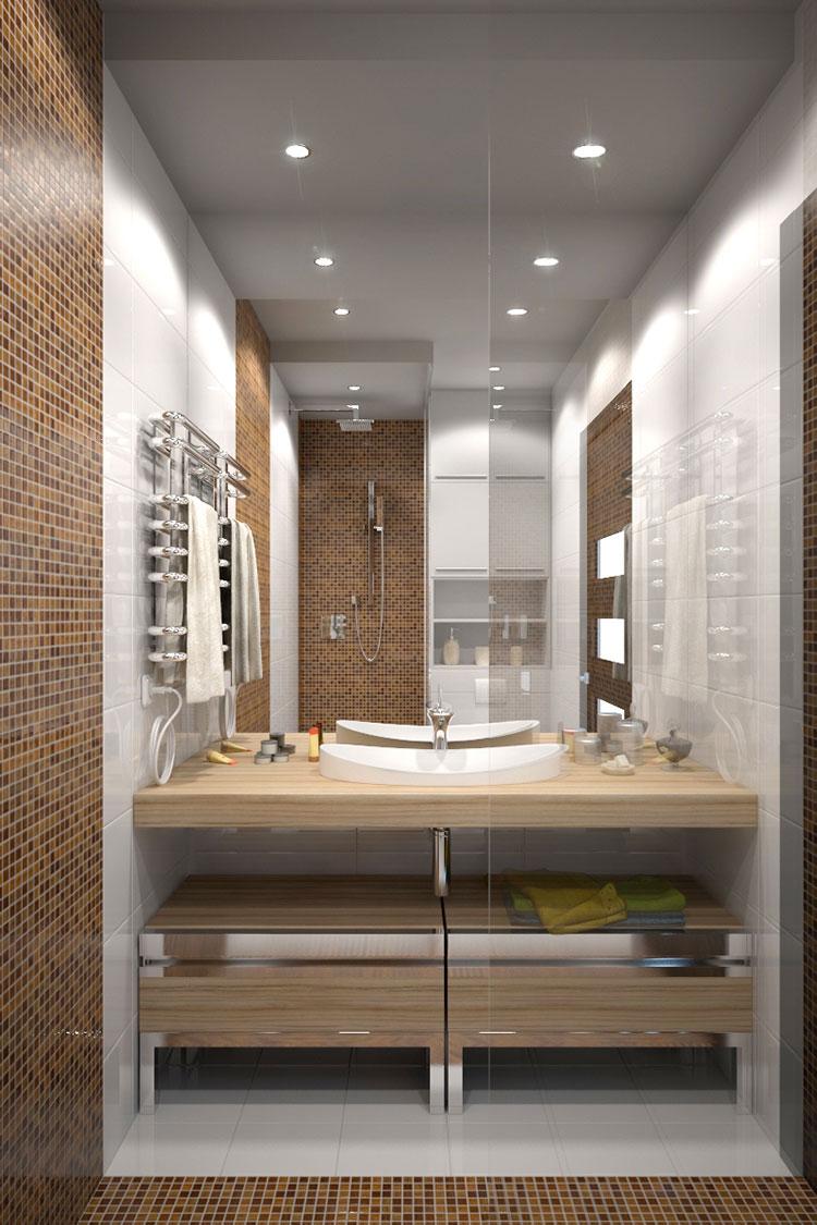 Progetto per bagno piccolo moderno n.09